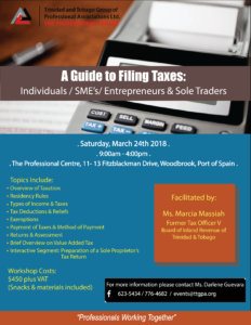 A GUIDE TO FILING TAXES WORKSHOP