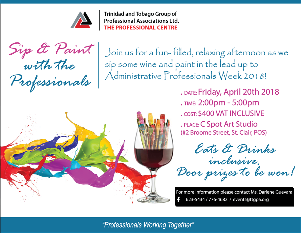 SIP AND PAINT WITH THE PROFESSIONALS EVENT